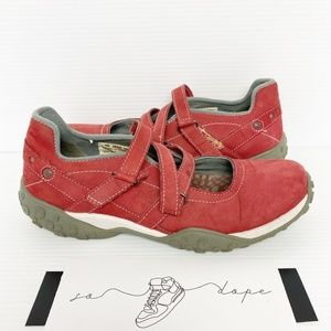 Timberland red leather Mary Jane Sneakers